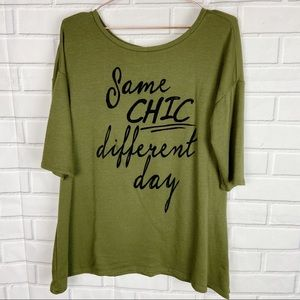 Sunset & Sixth Same day different chic knit top L